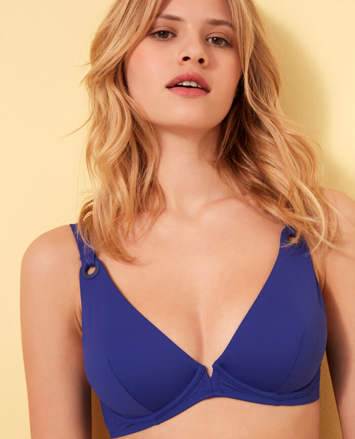 Underwired triangle bikini top Mascara blue Impala