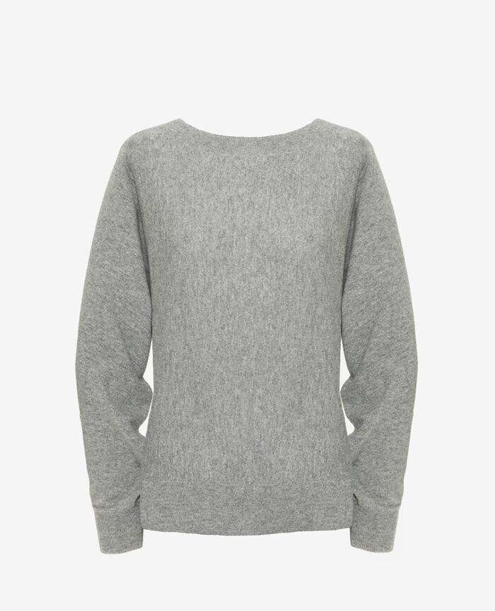 Boatneck jumper Grey Icone