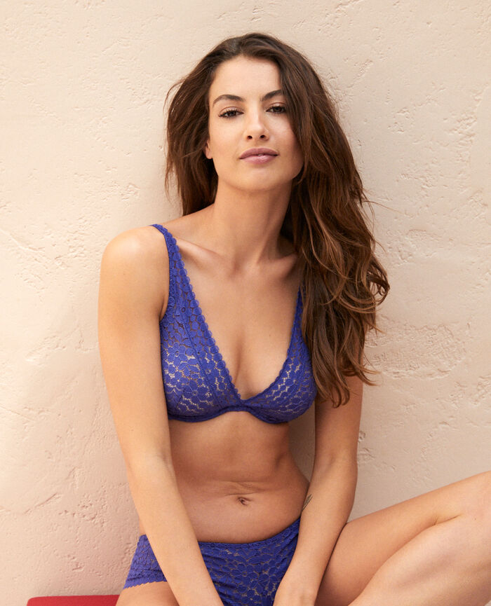Underwired triangle bra Gouache blue Monica