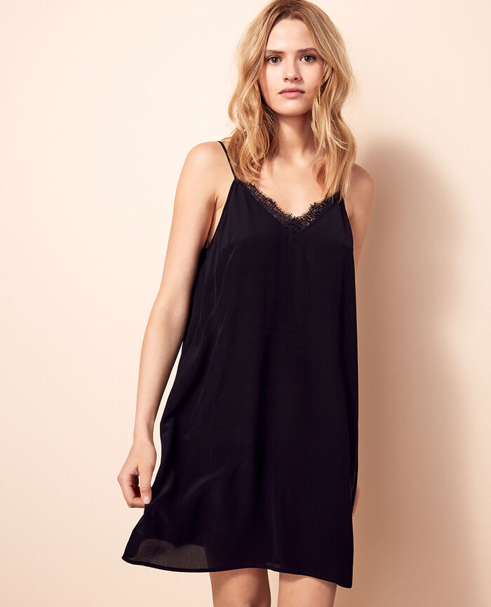 Short nightie Black Valentine