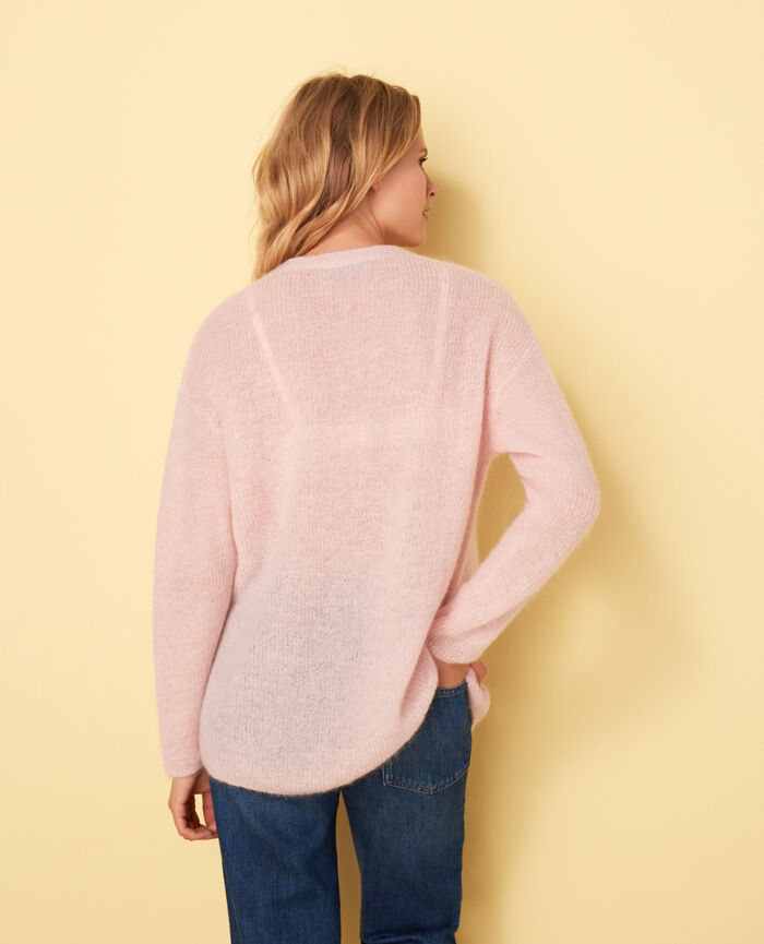 Long-sleeved cardigan Pink Delicate