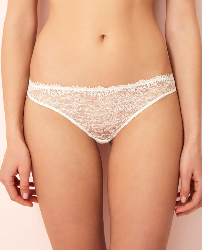 Hipster briefs Ivoire Chantilly