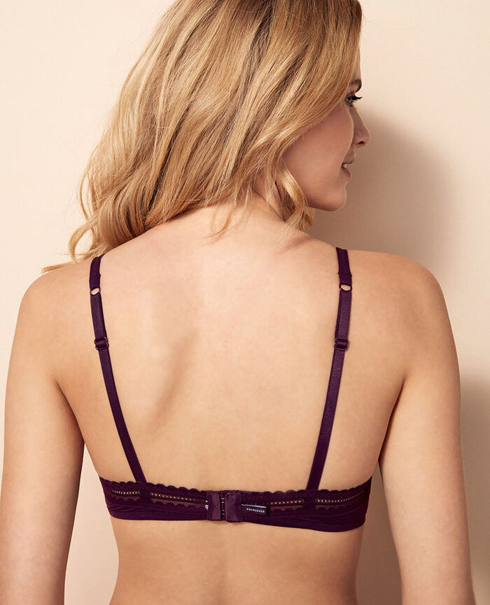 Underwired bra Ethnic purple Beaute