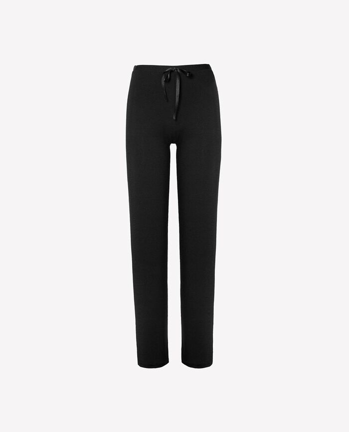 Trousers Black Flora
