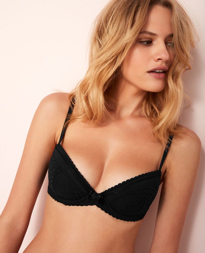 Padded push-up bra Black Belle