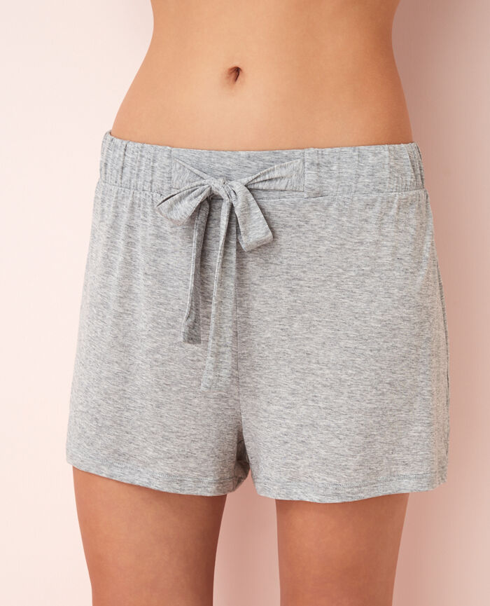 Pyjama shorts Flecked grey Latte