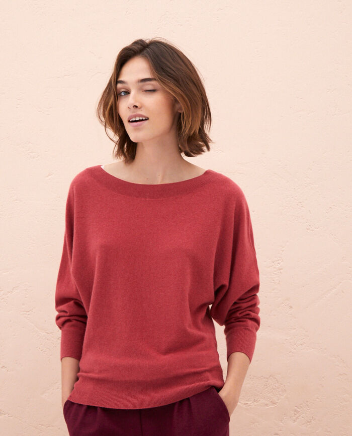 Boatneck jumper Peony red Icone