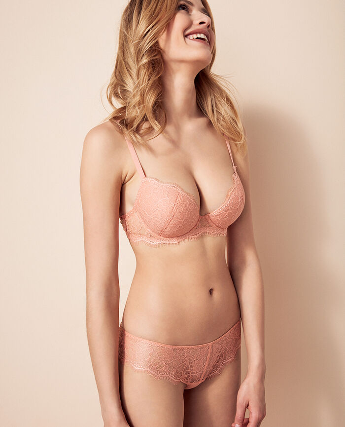 Padded push-up bra Toucan pink Taylor