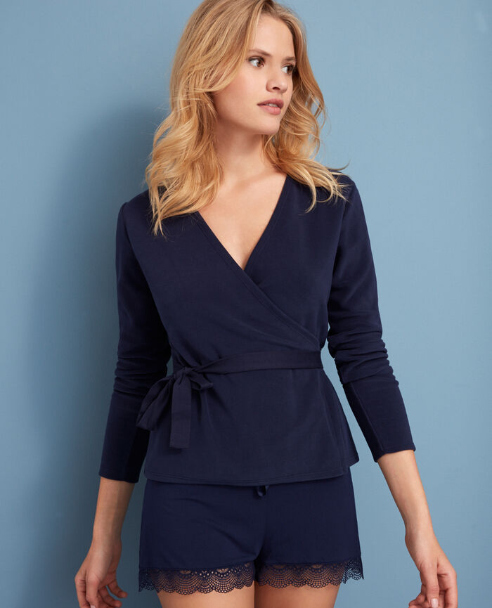 Wrap-around top Navy Igloo