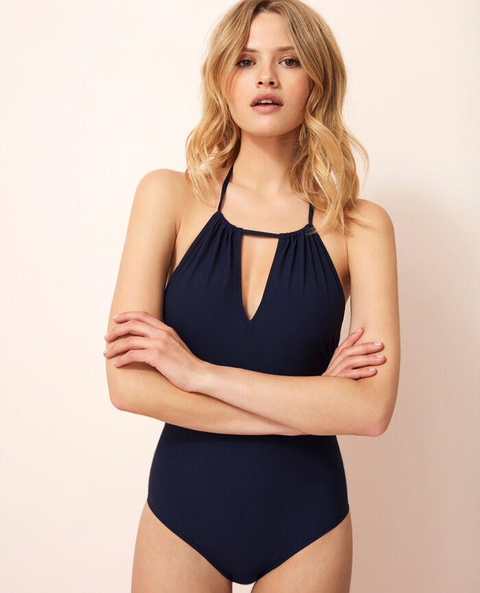 Swimsuit halterneck Navy Nodo