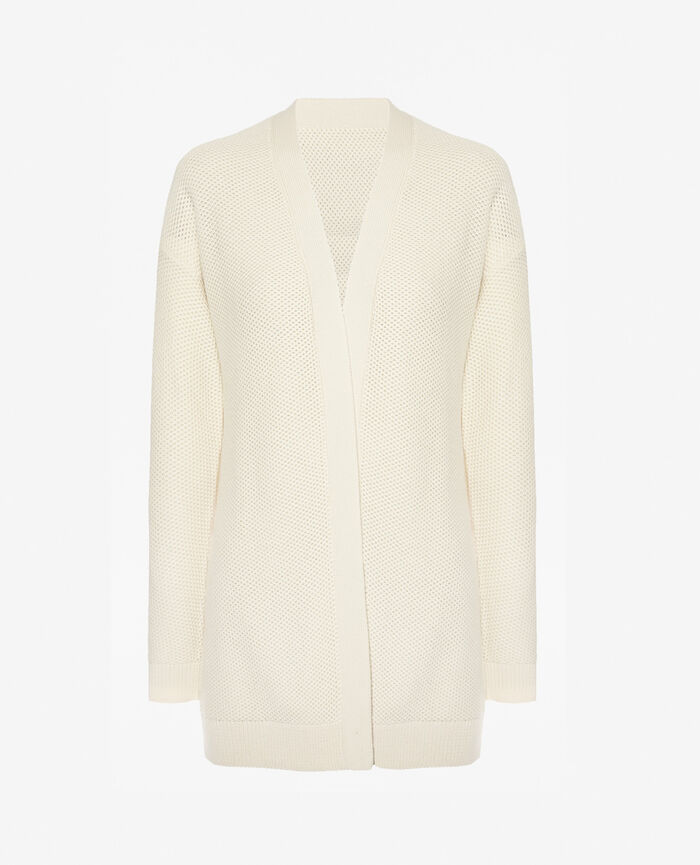 Long-sleeved cardigan Ivory Cachou