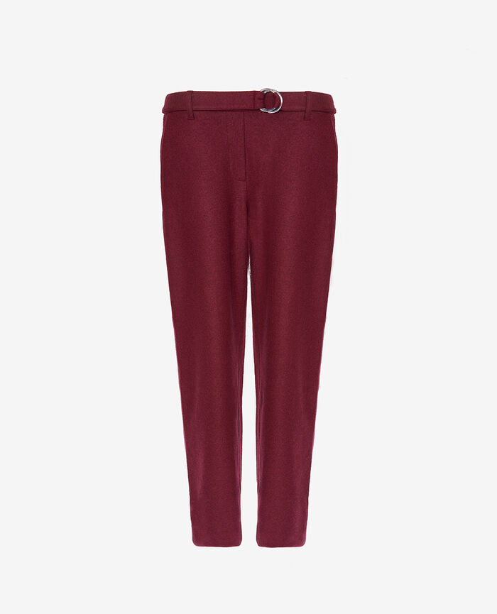 Trousers Cassis red Perspective