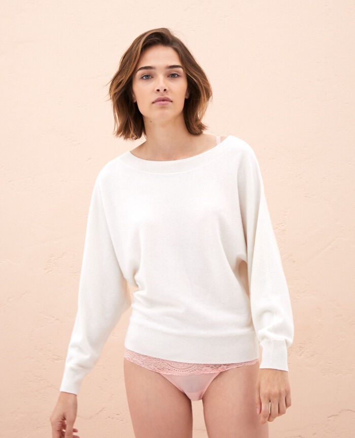 Boatneck jumper Ivory Icone