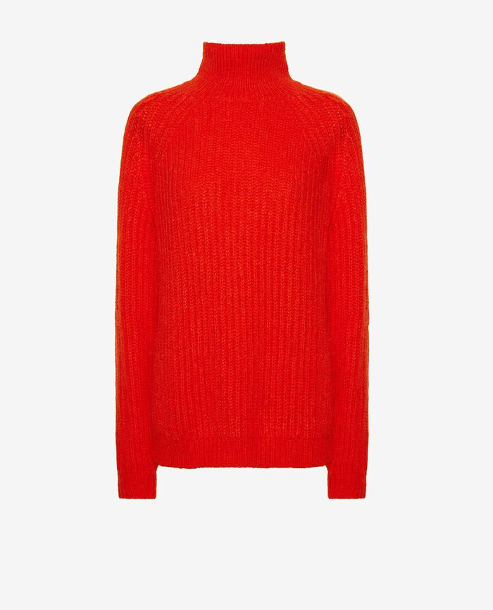 Turtle-neck jumper Flash red Sensation