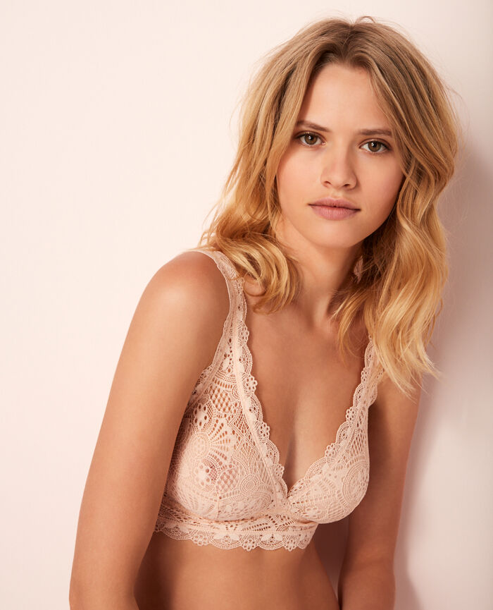 Soft cup bra Rose gold Love