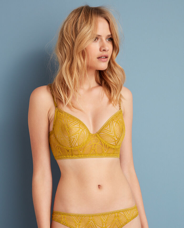 Bustier bra Pickles yellow Boheme