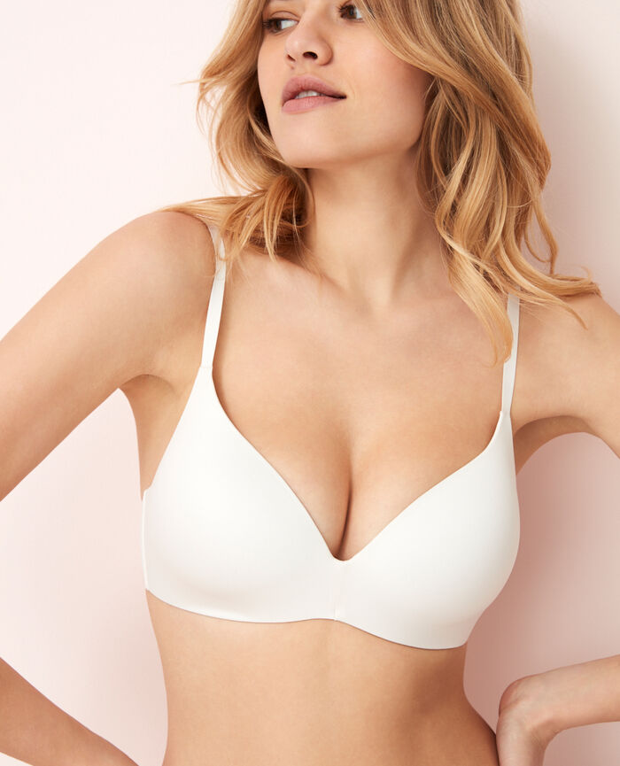 Soft moulded triangle bra Rose white Fantomette