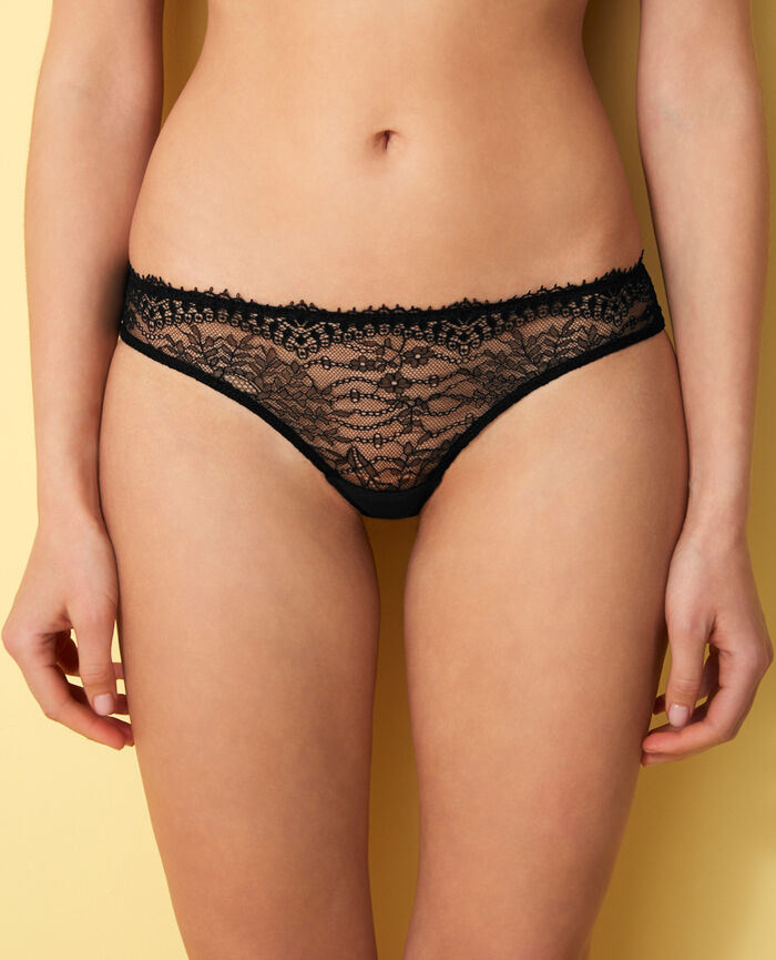 Brazilian briefs Noir Chantilly