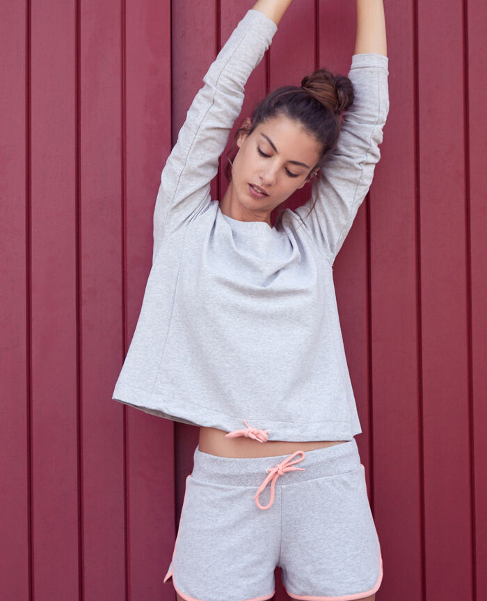Sport sweater Flecked grey Yoga