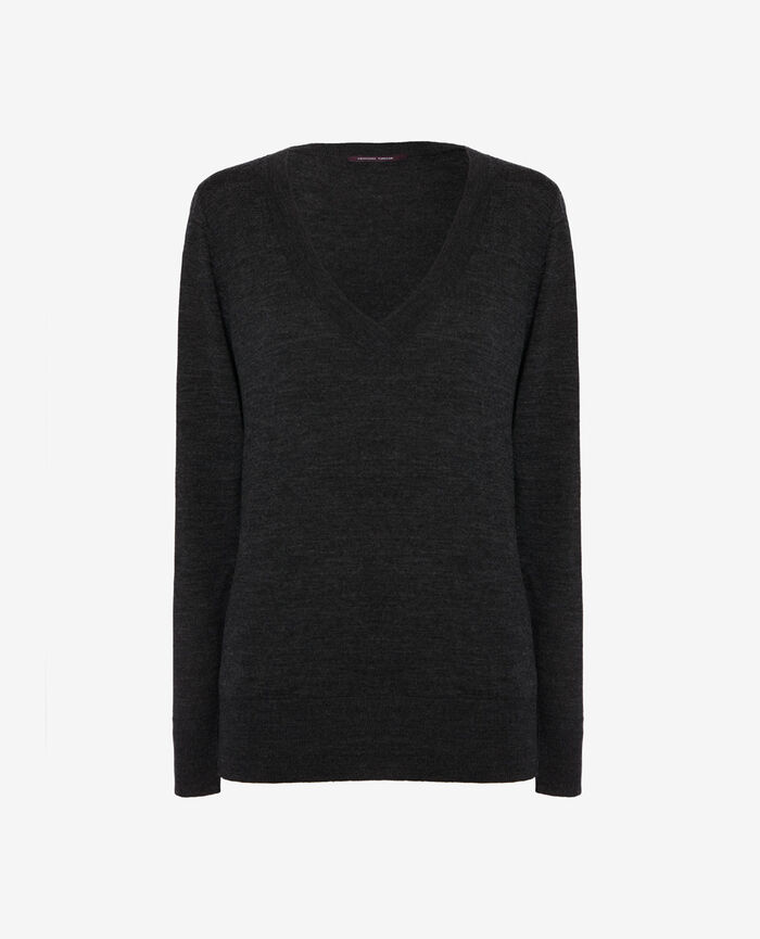 V-neck jumper Anthracite grey Extra