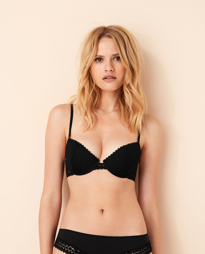 Half-cup padded bra Black Monica