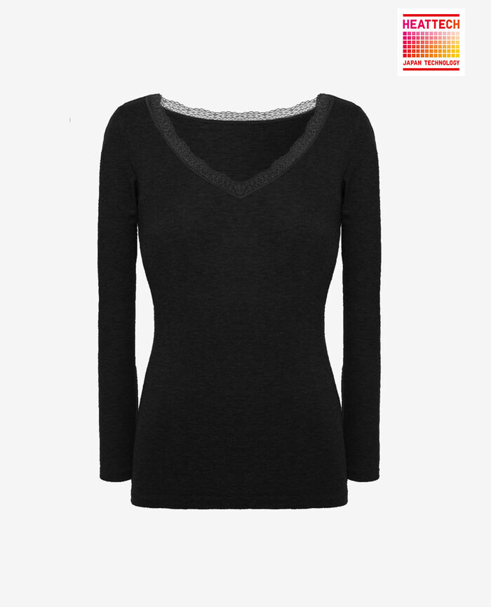 Long sleeved top Black Lovely