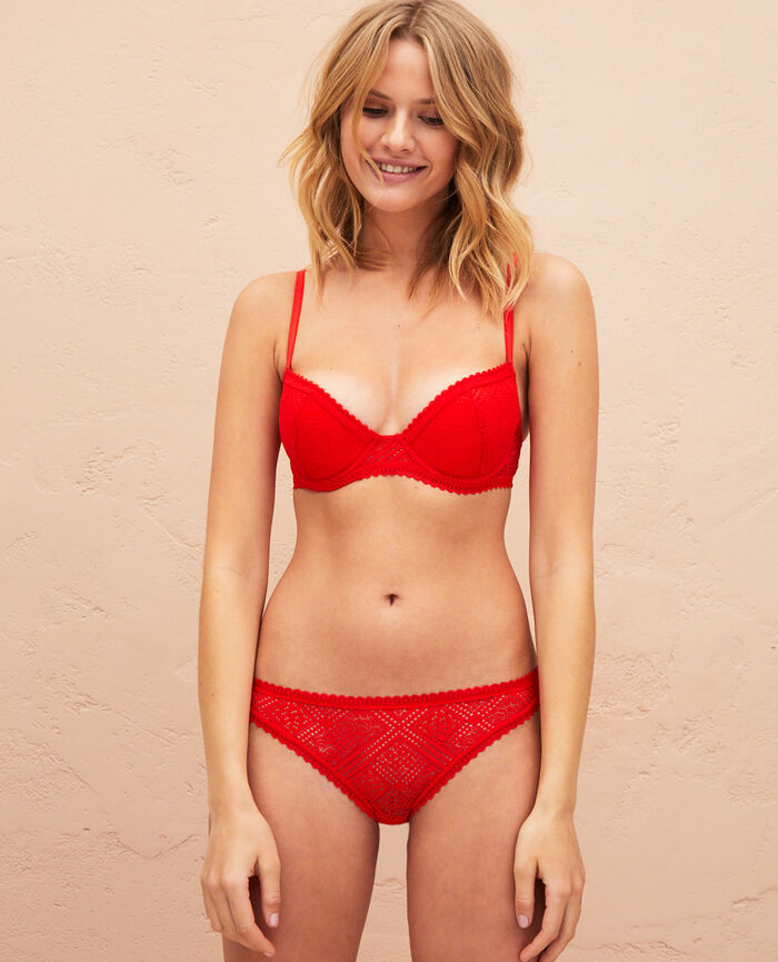 Padded push-up bra Flash red Sonate