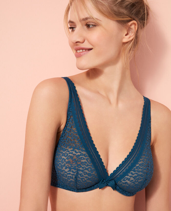 Underwired triangle bra Sombrero blue Belle