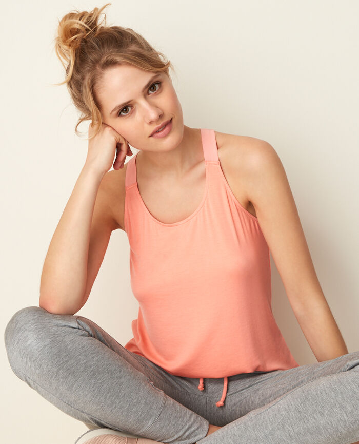 Sport tank top Grapefruit pink Yoga