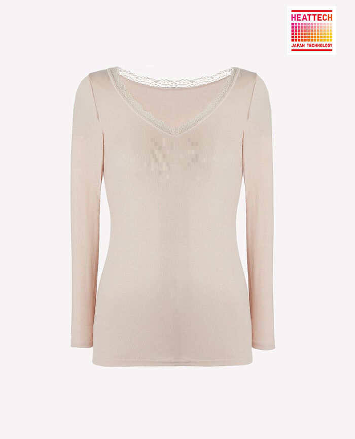 7/8 sleeved top Lychee pink Lovely