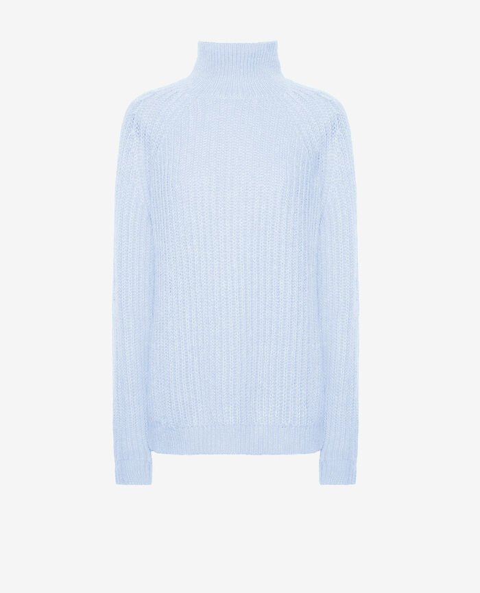 Turtle-neck jumper Blue fog Sensation