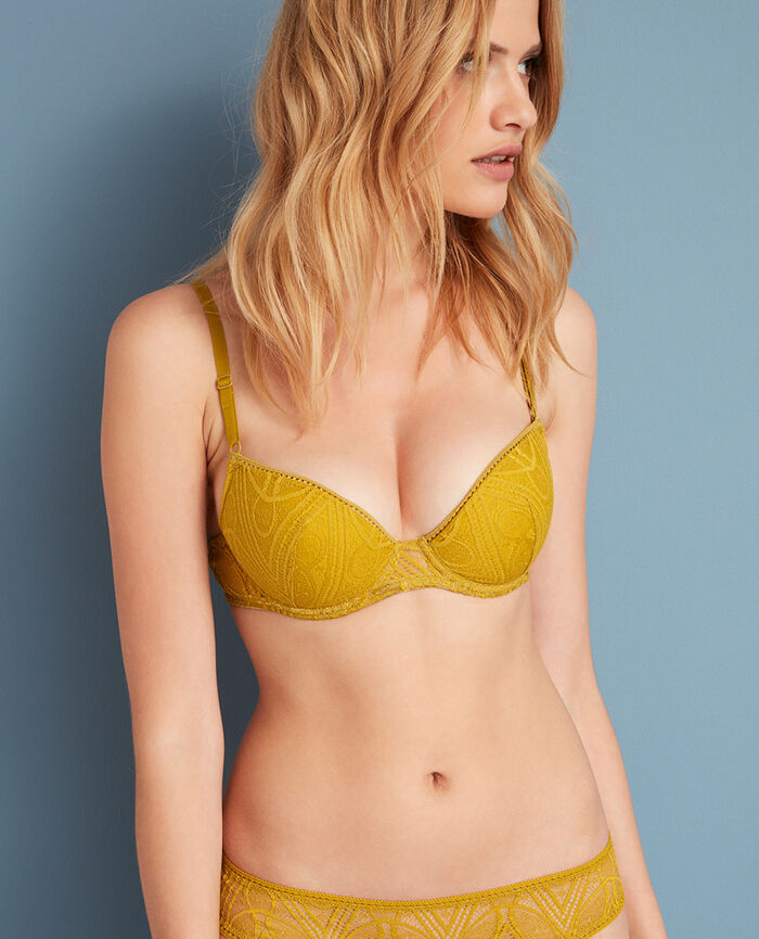Padded push-up bra Pickles yellow Boheme