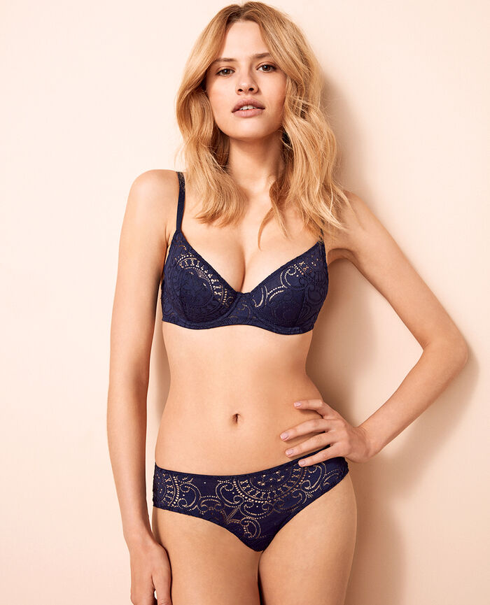 Demi push-up bra Denim blue Evasion