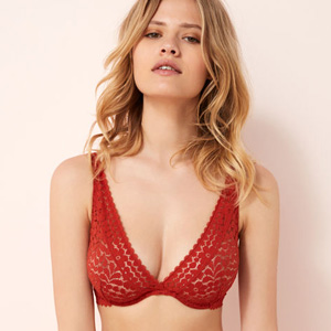 Red Triangle Large cup size bra