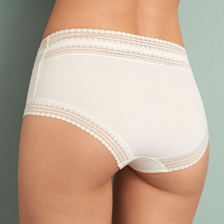 High-waisted briefs Rose white